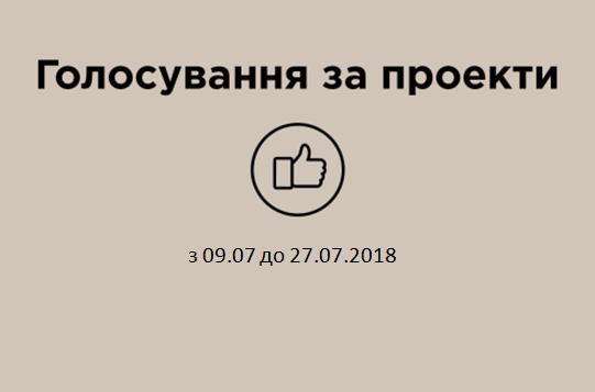 Розпочався етап голосування за громадські проекти. Голосування триватиме до 27.07.2018
